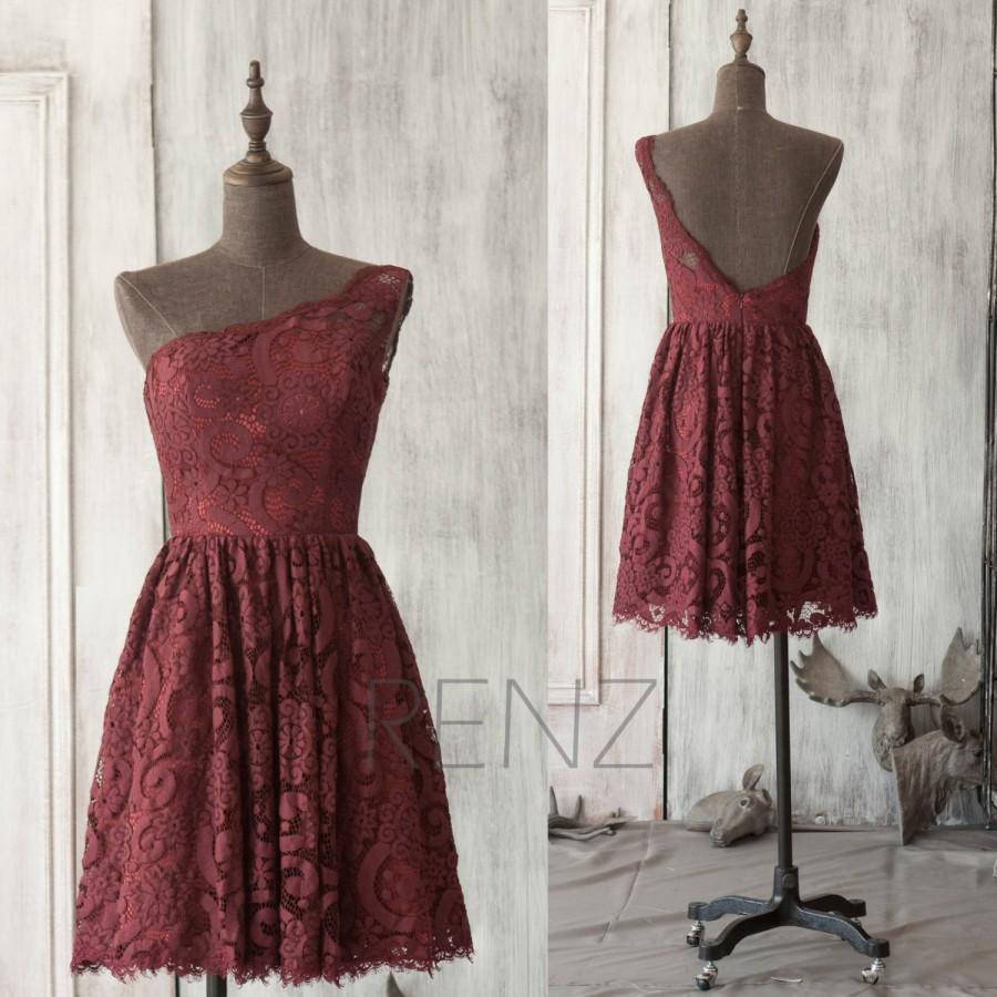 Wine Knee Length Dress
