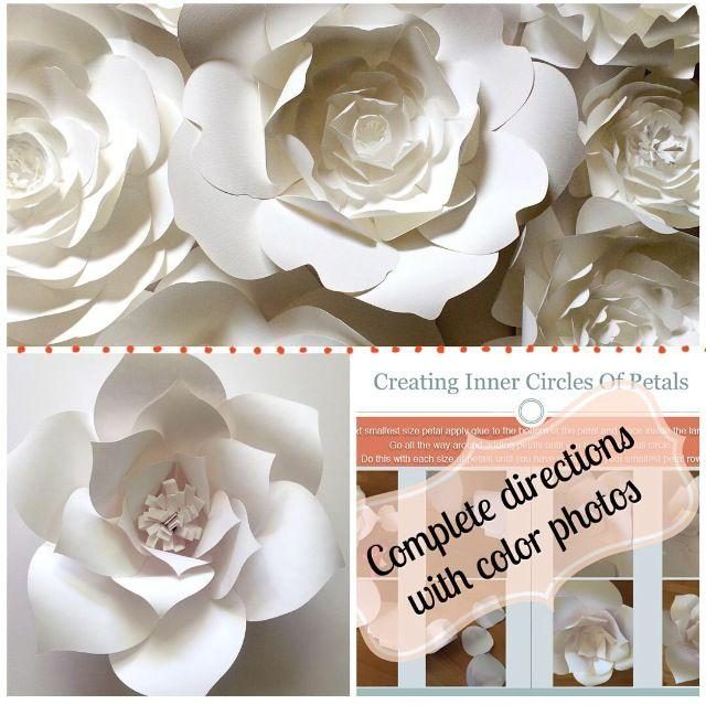 Wedding theme diy paper flower template 2425979 weddbook diy paper flower template mightylinksfo