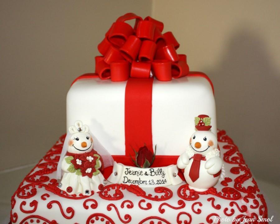 Christmas Wedding Cake Toppers.Winter Wedding Cake Topper Snowmen Bride And Groom Winter