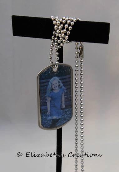Mariage - Personalized Custom Photo Dog Tag Necklace/Keepsake Photo