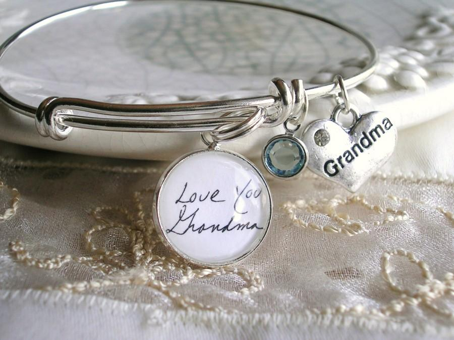 Handwriting Charm Bracelet Sonogram Child Artwork Custom Bride Wedding Gift Mother Grandmother
