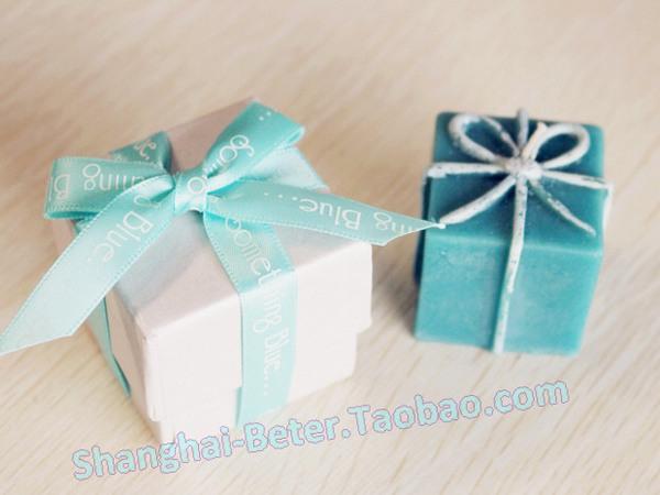 Mariage - 草藍,草綠色禮品盒小蠟燭,歐式婚慶用品LZ028/A創意婚品派對布置