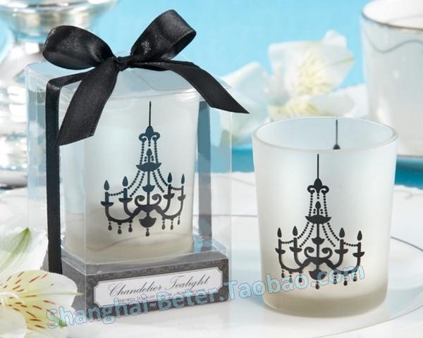 Свадьба - 歐式吊燈玻璃杯蠟燭LZ044小燭台清新派對布置婚禮小物 滿月酒誕生