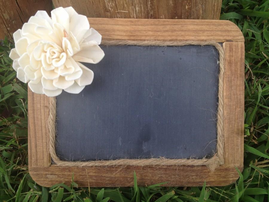 Framed Rustic Chalkboard Sign