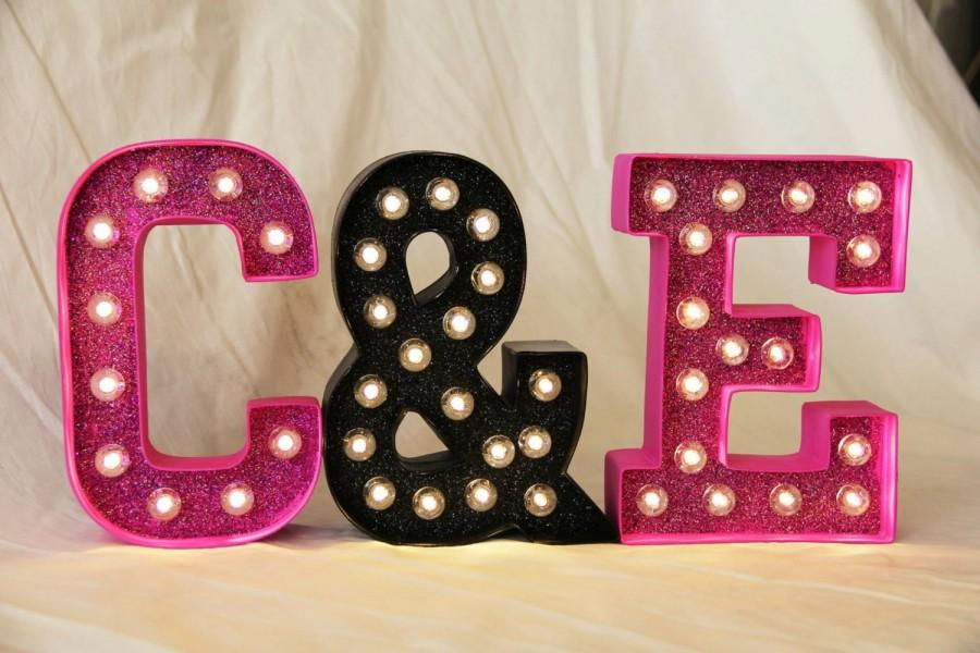 Mariage - Light Up Custom Letters