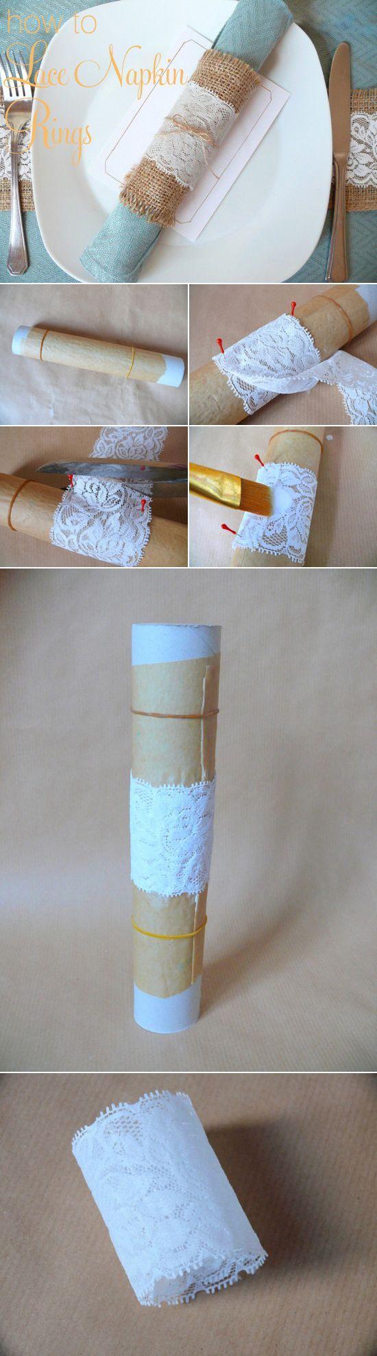 Wedding - DIY Lace Napkin Rings Tutorial