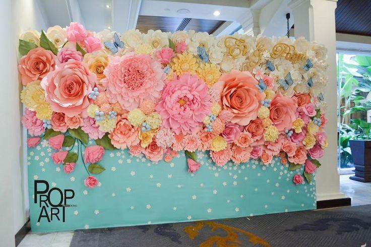 Бумажные цветы картины 136