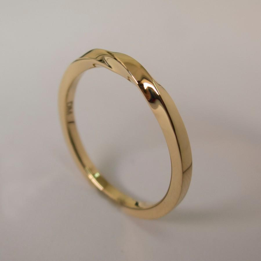 Mobius Ring 14k Gold Ring Wedding Ring Gold Wedding Ring