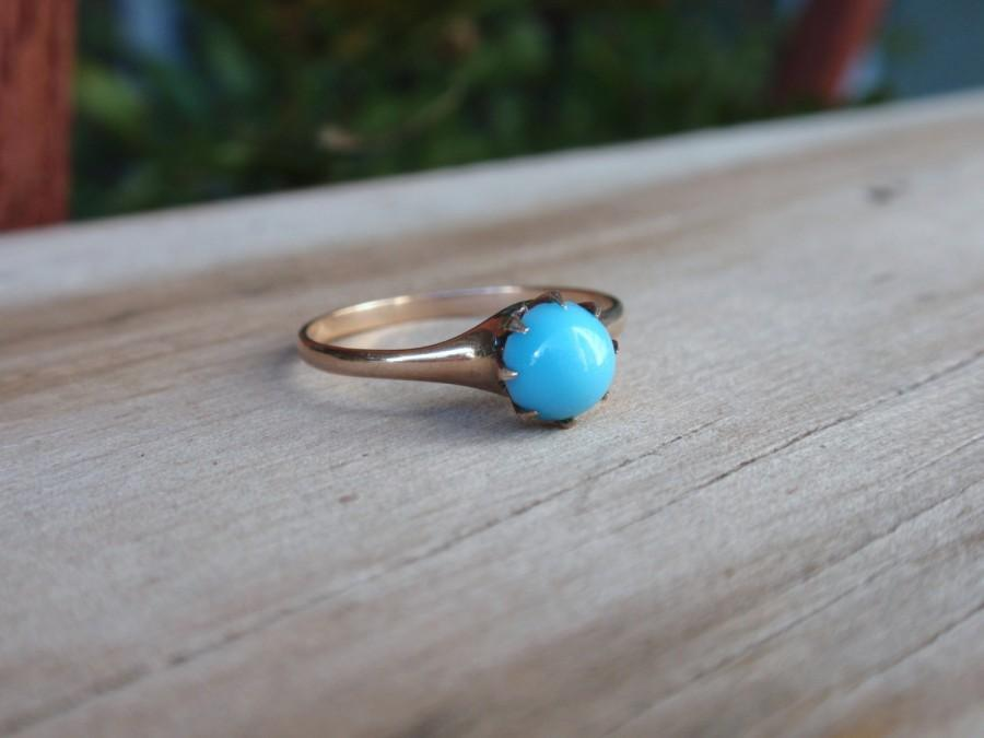 Victorian Turquoise Ostby Barton Ring 10k Antique Ladies Gold Ring ...