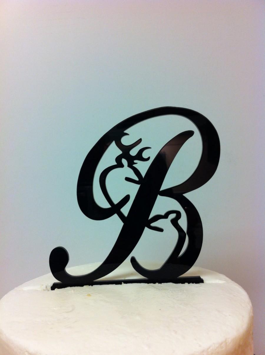 Свадьба - Deer Wedding Cake Topper