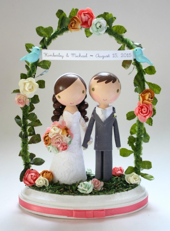 Свадьба - custom wedding cake topper - with arch