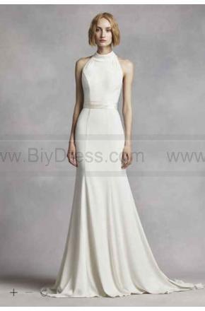Свадьба - White by Vera Wang High Neck Halter Wedding Dress VW351263