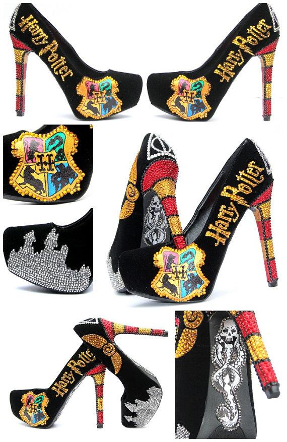 Boda - Harry Potter Heels Hand Painted with Swarovski Crystals