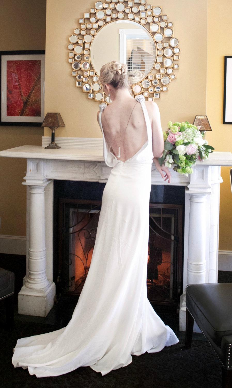 Mariage - Backless Wedding Dress, 1930, 1920, Art Deco, Vintage Inspired, CHANDELIER, Long Ivory Bias Crepe