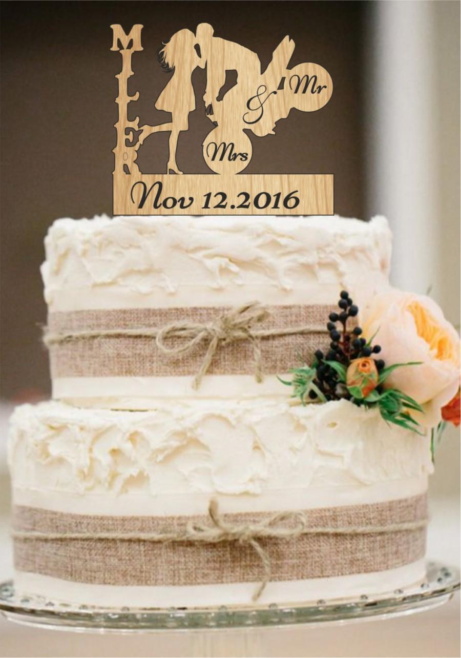 Wedding - Wedding Cake Topper,Mr and Mrs Cake Topper,Personalized Cake Topper,Rustic Wedding Cake Topper,Mr and Mrs with a Motorcycle,cake decor