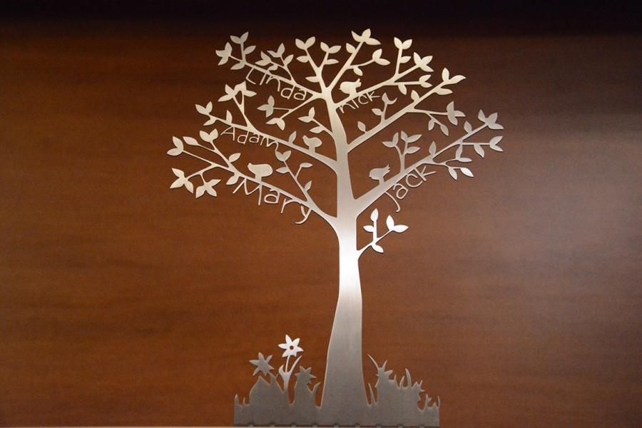Свадьба - PERSONALIZED  FAMILY TREE, Stainless Steel, Tree of Life