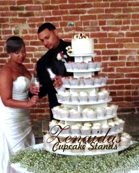 Cupcake Stand 7 Tier Round 200 Cupcakes Threaded Rod And Freestanding Style Diy Project Mdf Woodcupcake Tower Birthday Wedding