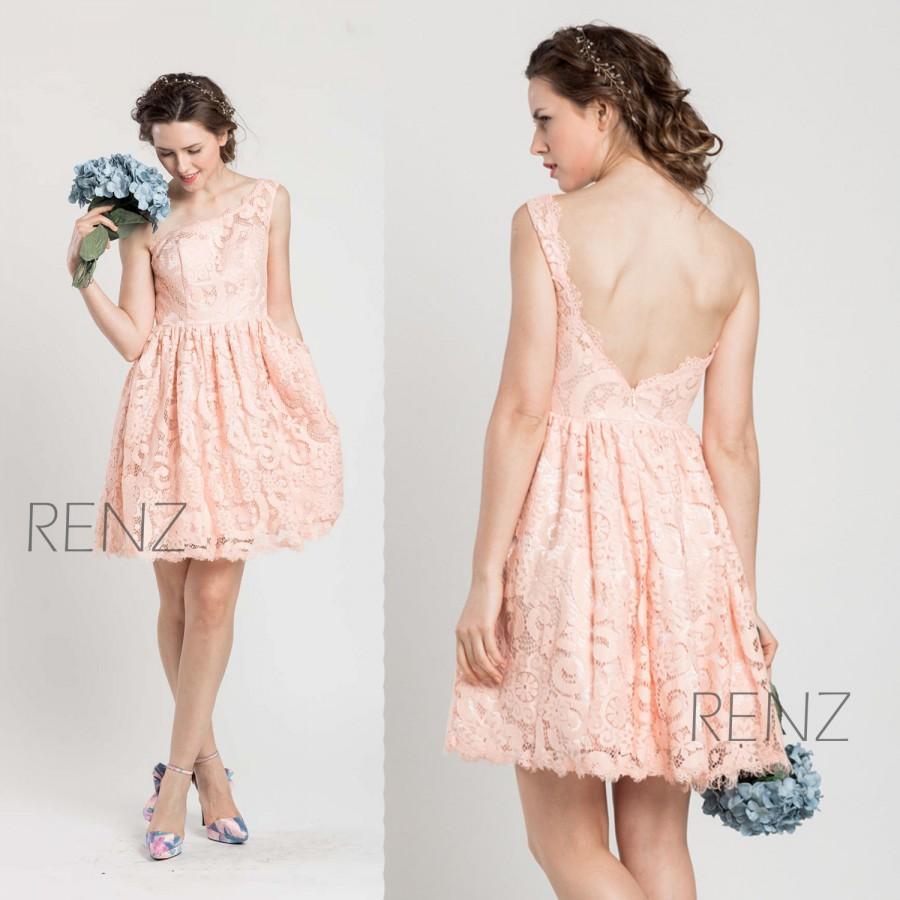 625672e2f47 2015 Blush Lace Bridesmaid Dress
