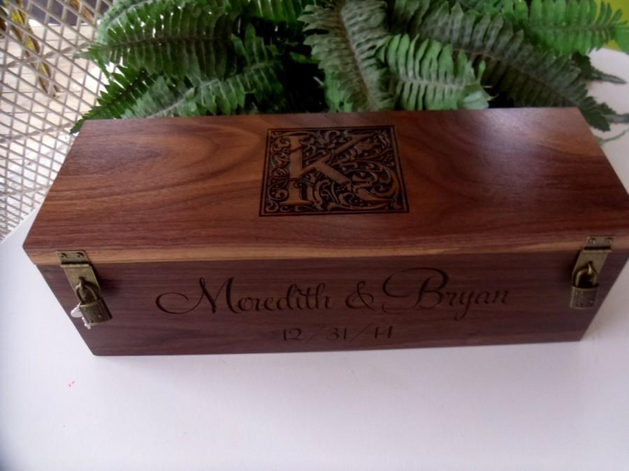 WeddingWine Box, Custom Wine Box, Wedding Wine Box, Wedding Gift