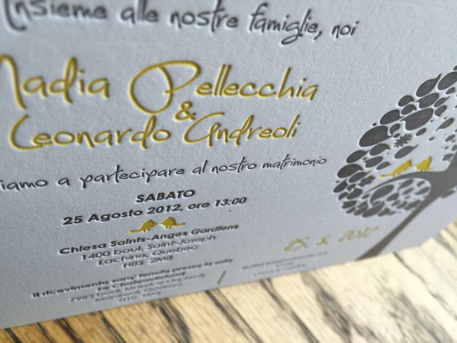 Letterpress Wedding Invitation Custom Wedding Invitation