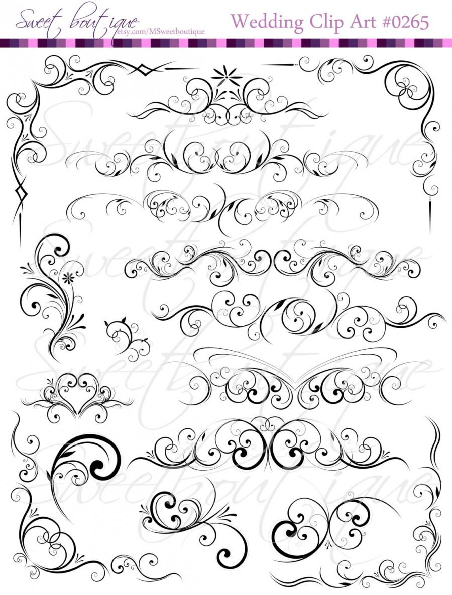 black digital clip art floral flower clipart silhouette decorative rh de weddbook com free clipart wedding cards free wedding borders clipart for invitations