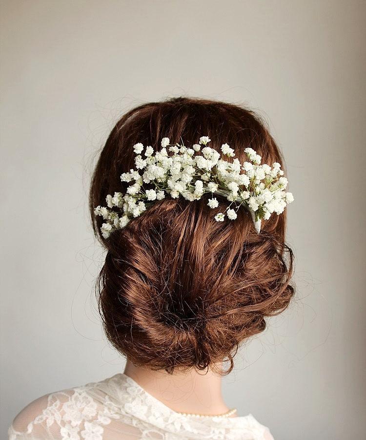 Свадьба - Baby's Breath Hair Vine, Rustic Head Piece, Dried Flower Hair Vine, Boho Head Piece, Flower Hair Vine, Wedding Hair Vine, Woodland Hair Vine