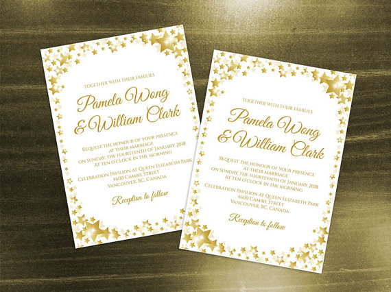 diy printable wedding invitation card template 2427537. Black Bedroom Furniture Sets. Home Design Ideas