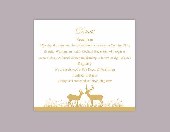 Wedding Invite Information Card Template Wedding Invitation Sample – Wedding Information Card Template