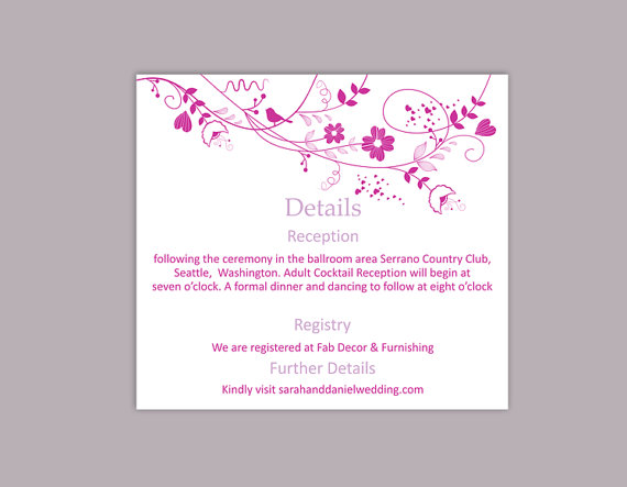 Doc975650 Wedding Information Card Template Wedding – Wedding Information Card Template