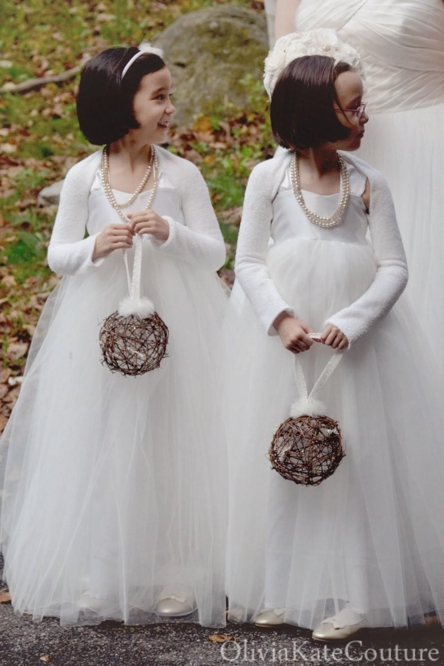 Mariage - Floor Length Flower Girl Dress