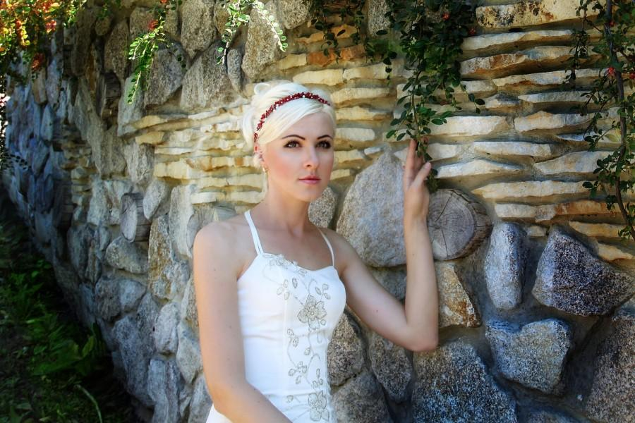 Hochzeit - flower girl headband, flower girl headpiece, flower girl hairpiece, flower crown, wedding flower crown, bridal headpiece, flower headpiece