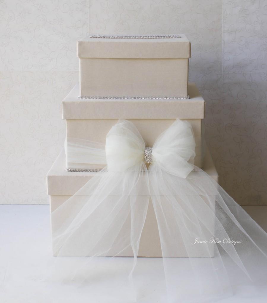 Hochzeit - Wedding Card box, Money Card Box- Custom Made to Order