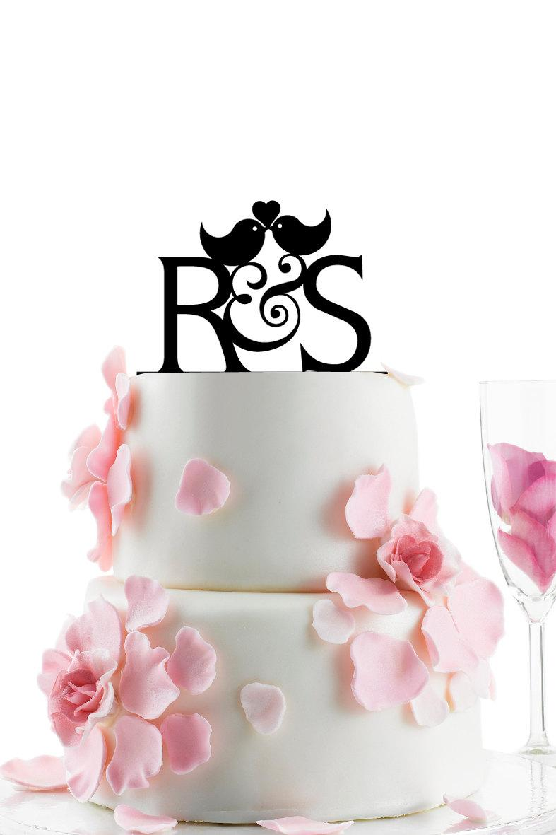 Custom Wedding Cake Topper - Personalized Monogram Cake Topper ...