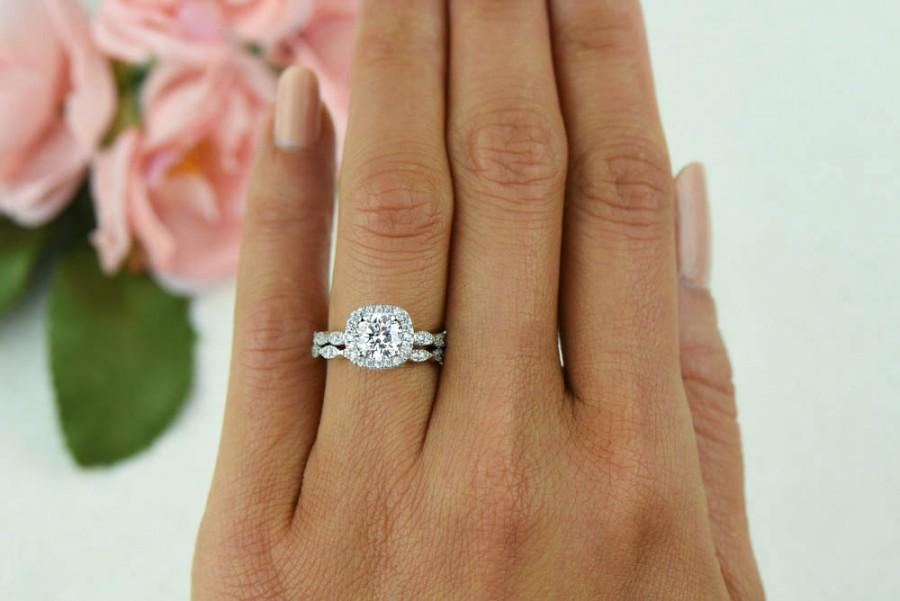 1 25 Ctw Vintage Style Wedding Set Bridal Halo Ring Man