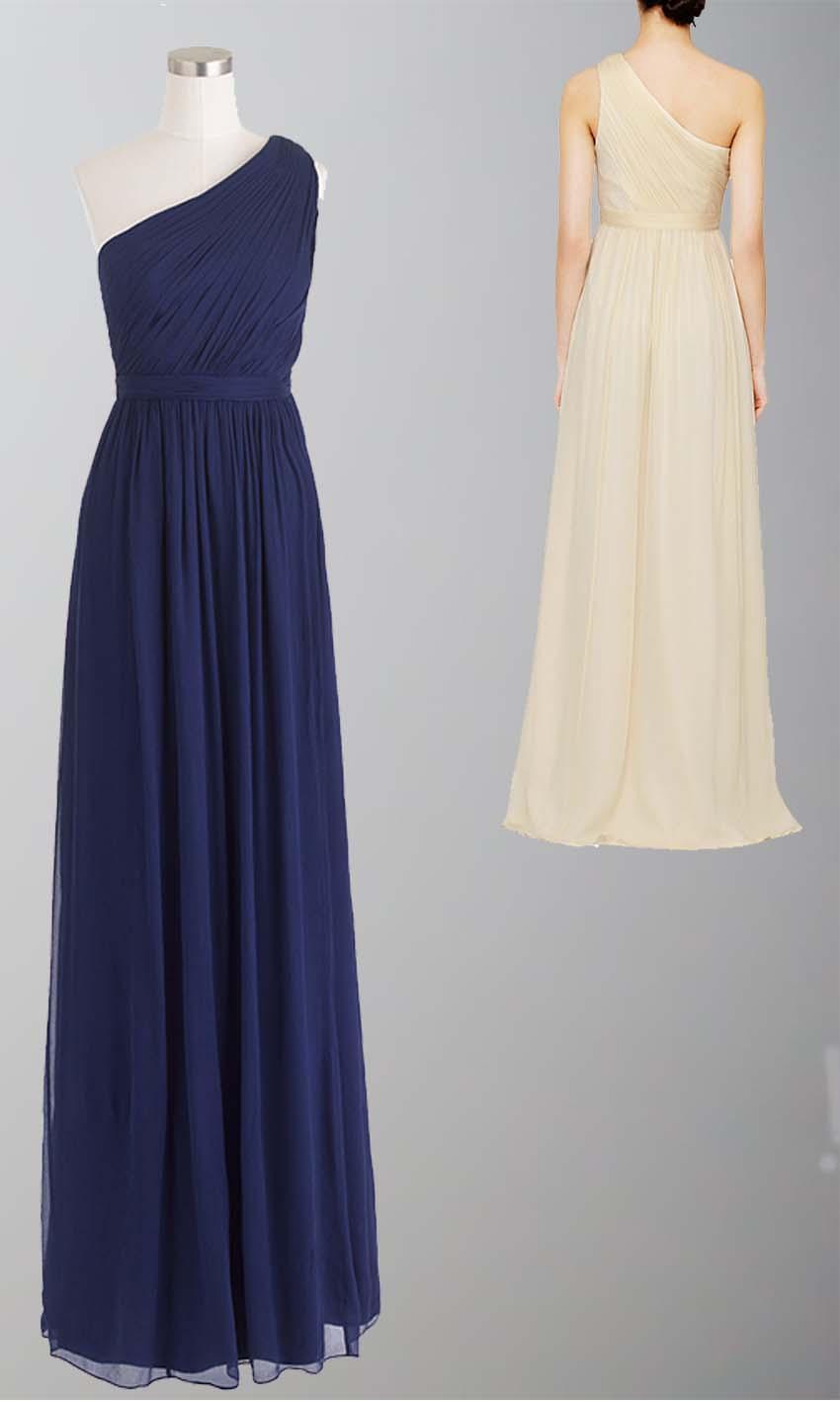 Navy Blue One Shoulder Bridesmaid Dress UK KSP335 [KSP335] - £87.00 ...
