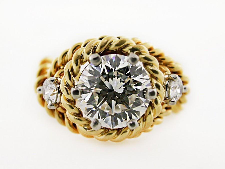 Mariage - Tiffany & Co. Jean Schlumberger - 18K Rope Diamond Engagement Ring