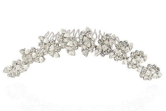 Свадьба - Bridal hair comb - Crystal hair accessory - Style Cece Wedding Comb with Swarovski Crystal