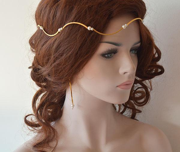 Gold Bridal Hair Crown Wedding Hair Accessories Bridal Hair