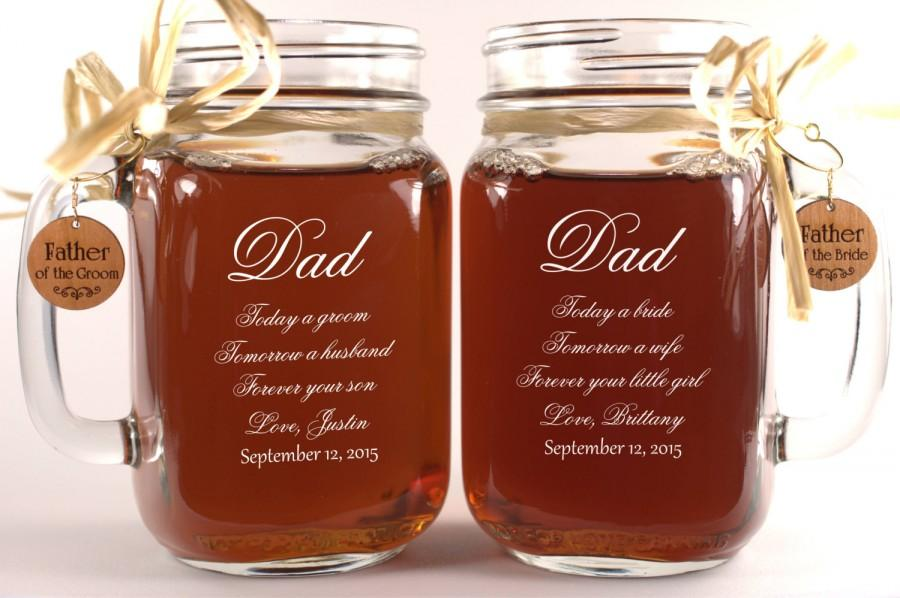 Dad Wedding Gift Mason Jars Father Of The Groom Gift Father Of The