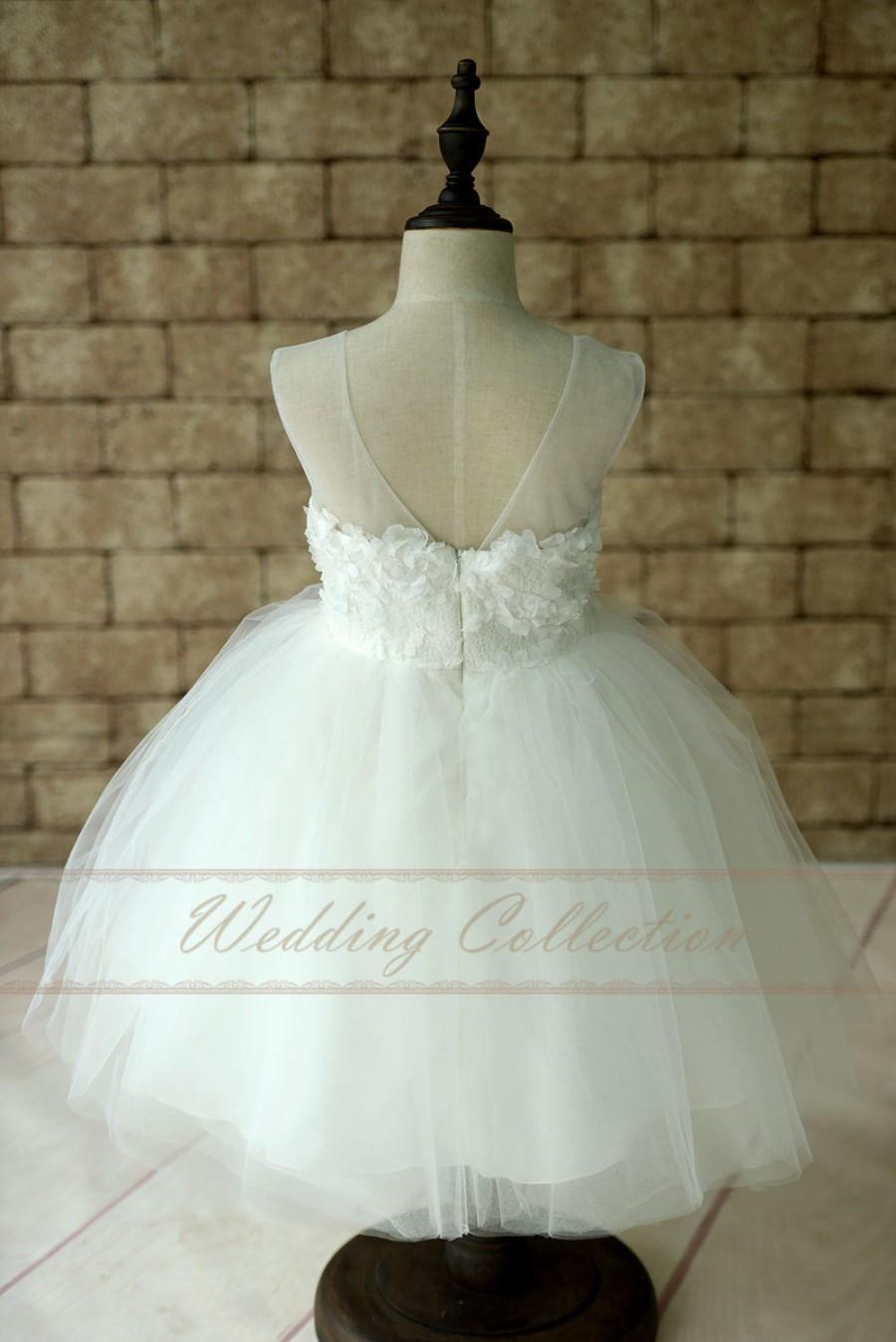 Flower girl dresses tulle and lace