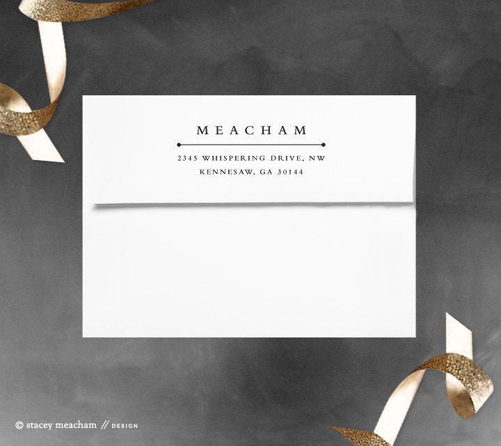 Mariage - Return address stamp - rubber stamp - self inking stamp - modern stamp - Classic design