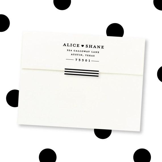 Свадьба - Return address stamp - Great for wedding invitations - rubber stamp - Simple heart