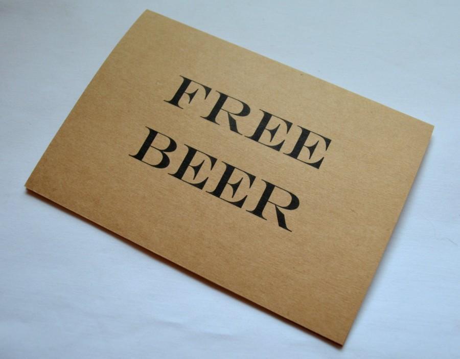 Wedding - Free Beer GROOMSMAN card will you be my groomsman cards free beer funny card funny bridal cards funny groomsmen cards beer wedding cards