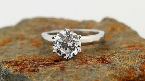 Wedding - 1.00ct to 1.50ct   Brilliant Cut  Moissanite Solitaire  Engagement Ring in 14K White Gold  - Gem609  *******Special For  You******