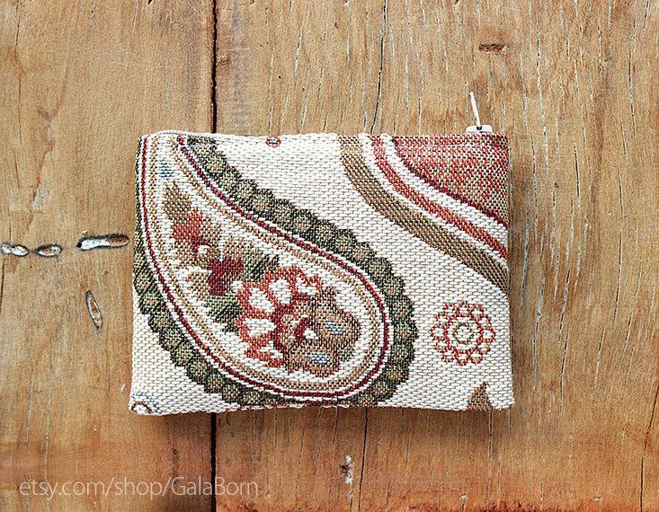 Mariage - Set of 4 Paisley pouches - Set of 5 - Set of 6 - Set of 7 - Set of 8 - Cotton Gobelin fabric - Rustic Boho wedding - Braidsmaid gift