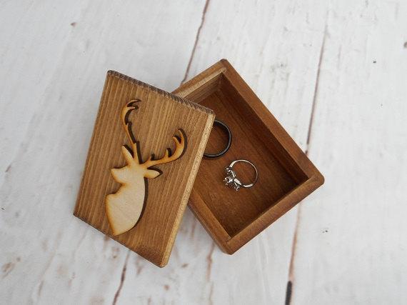 Deer Ring Box Country Wedding Camo Wedding Buck And Doe Wedding
