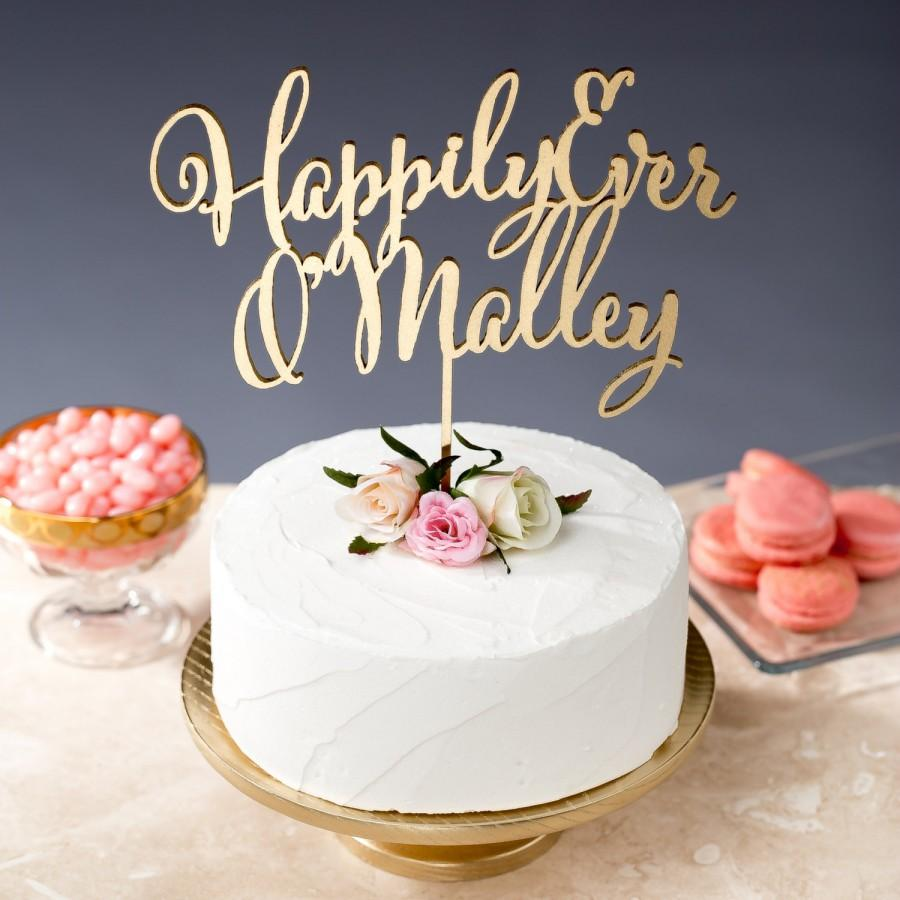 Hochzeit - Happily Ever After Cake Topper - Wedding - Daydream Collection