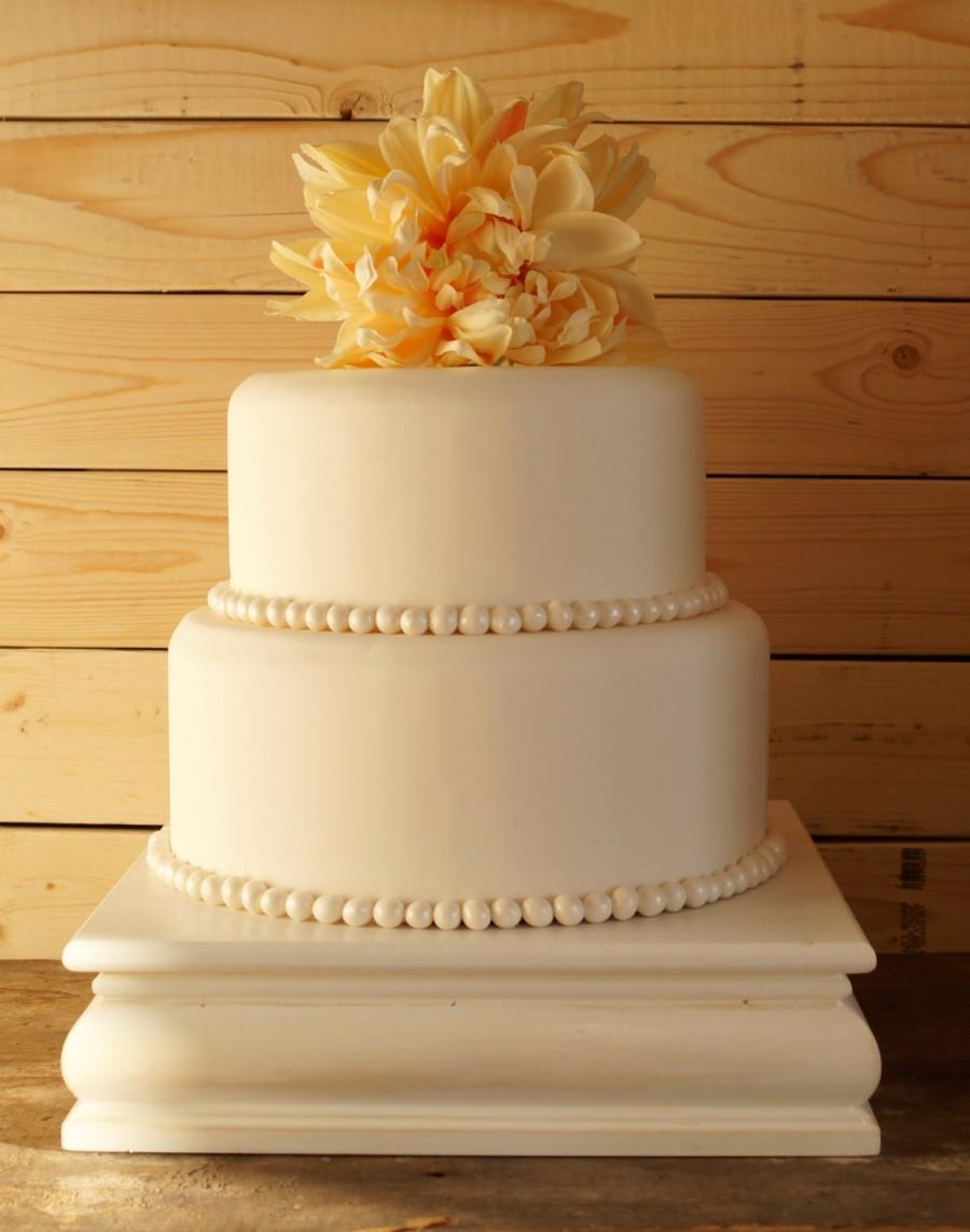 16 Inch White Cake Stand White Square Cake Stand White Cupcake Stand ...