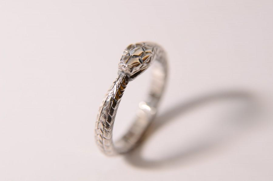 Свадьба - Ouroboros ring sterling silver