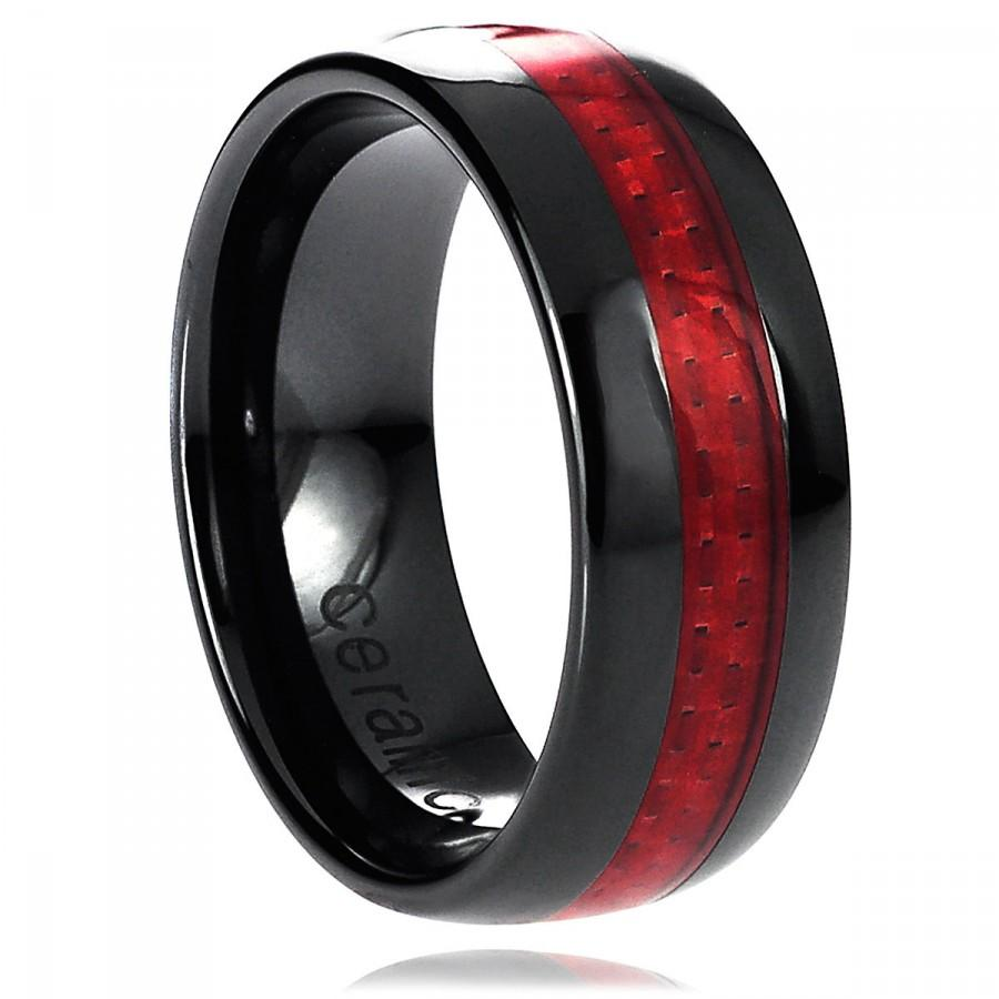 Black And Red Wedding Ring Www Imgkid Com The Image